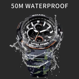 Smael 2020 Sport Montres Hommes Montre LED Waterproof Montre numérique Homme horloge Relogio Masculino erkek Kol Saati 1708B Montres Hommes