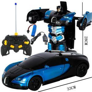 1 Rc Araba Sürüş Spor Otomobiller Sürücü Dönüşüm Robotlar Modellerinde Yüksek Kalite Rc Trafo 2 Uzaktan Kumanda Araba Rc Oyuncak Hediye Mücadele