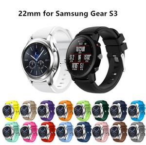 Für samsung gear s3 frontier / classic armband 22mm silikon sport ersatz uhr männer frauen armband uhren strap für samsung watch