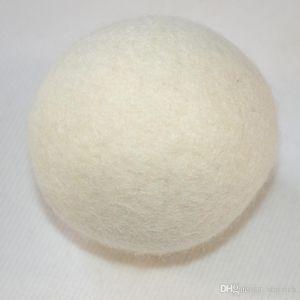 Lana 6 centimetri naturale Feltro Dryer Balls Palloni Lavanderia riutilizzabili non tossico ammorbidente riduce il tempo di asciugatura bianche sfere di colore