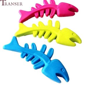 Transer Pet Supply Durable Rubber Fish Shape Interactive Cat Dog Chew Toys