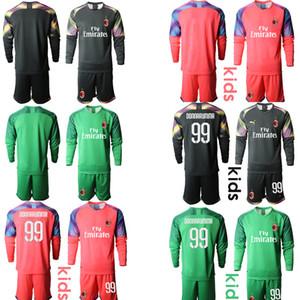 TOP Italy Club 2020 Football Goalkeeper Soccer Home Kit #99 DONNARUMMA Goalkeeper football Jersey Home Away Youth Junior Long Sleeve Shirts