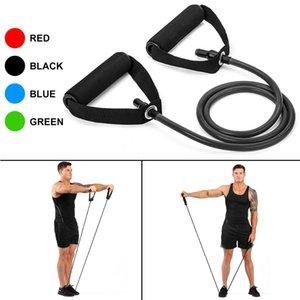 120cm Yoga Pull Rope Resistance Bands Fitness Gum Elastische Bänder Fitnessgeräte Gummiexpander Trainings-Übungs-Trainings-Band