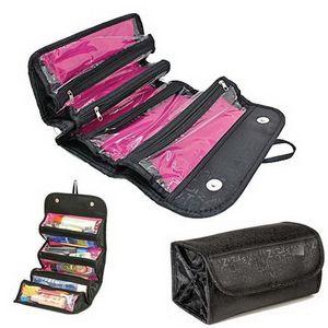 Sac de rangement multifonctionnel pour voyage Sac de rangement Roll-N-Go Sac de maquillage Facile à rouler Bon usage pour le maquillage Cosmétiques Organisateur