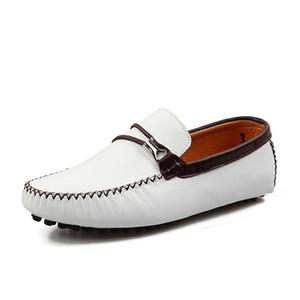 Männer Loafers Driving Schuhe weiche beiläufige Schuh-Mann-Ebene Leder Loafers Big SizeMale Slip on Snake Skin