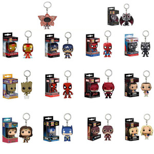 Funko Pop Keychain The avengers Action Figures Anime Collection Doll kids Toys Movie Anime Key chain Keyring Kid Toy