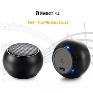 휴대용 미니 TWS 무선 스피커 BT 소매 포장 무료 배송 4.1 라운드 디자인 슈퍼 서브 우퍼 자동차 오디오 서브 우퍼