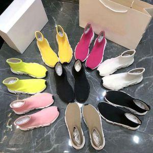 2019 Новая модель лета вскользь носки shoesDesigner женщина обувь Мода Sexy трикотажной эластичный носок сапоги мужские спортивные туфли Большие