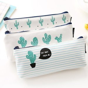 Women Travel Toiletry Cosmetic Bag Pencil Make Up  Case Storage Pouch Purse Organizer Cactus printing Students bags#3$