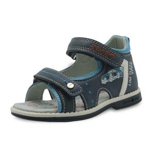 Apakowa Marka Erkek Ayakkabı Yeni 2018 Yaz Çocuklar Sandalet Pu Deri Düz Çocuk ayakkabıları Yürüyor Boys Için Ortopedik Bebek Sandalet Y190525
