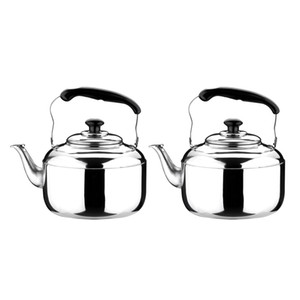 2Pcs Stainless Steel Whistling Kettle Teapot Kettle With Whistle Sound 5L