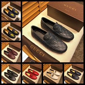 19FF Большой размер Итальянская мужская обувь Повседневная Brands из натуральной кожи мужчин Мокасины Мокасины дышащий скольжению на лодке обувь Мужчины Luxury