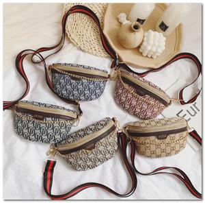 children Waist Bag luxury Fashion kids letter printed princess bag girls stripe single shoulder bag brand mini chain handbags C5841