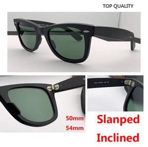 2020 haut gradient de qualité lentille en verre véritable carré classique UV400 Lunettes de soleil hommes femmes vintage feminin oculos de sol Gafas de conduite de 50 mm 54 mm