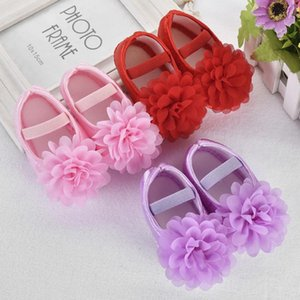 Toddler Baby Girl Chiffon Flower Elastic Band Newborn Walking Shoes Baby Girls Shoes Leisure First Walk Spring DropshipXzbE#