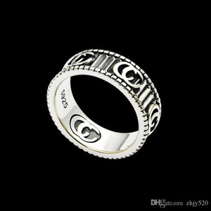 2020 New high quality Width 6mm fashion brand vintage ring engraving couples ring wedding jewelry gift