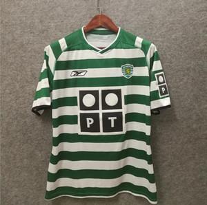 2003 2004 Spor CP Lizbon Retro Futbol Formaları 03/04 Ronaldo Ev Klasik Vintage Futbol Spor Gömlek