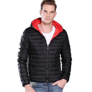 Mens Moda Sólidos Down Jacket Designer Long Sleeve Quente Fina Parkas Casual Jacket Zipper Fly Inverno