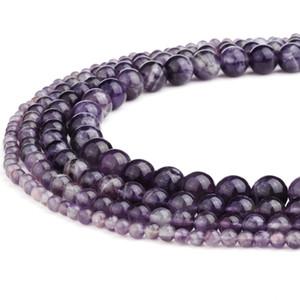 Natürliche Amethyst Stein Runde Edelstein Lose Perlen Handgemachte Edelstein Halbedelstein Perlen für Frau DIY Armband Schmuckherstellung 15