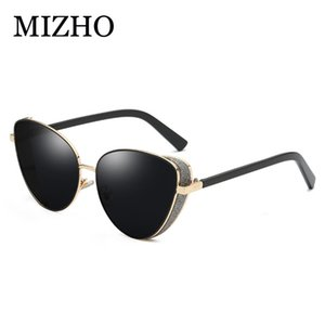 Großhandel rosa new fashion cat eye sonnenbrille frauen markendesigner vintage farbe blinde steigung damen sonnenbrille klar shades uva