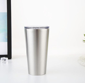 16 oz paslanmaz çelik kupa kapak KKA6814 ile çift duvar yalıtımı su bardağı bira şarap bardağı taklacılar