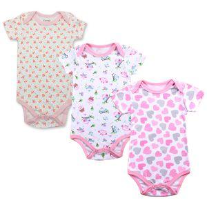 Baby Bodysuit Newborn Babies Boys Girls Body Random 3 Pack 3 6 9 12 18 24 Months Infant Short Sleeve Bodysuits