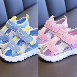L1NIf Summer male baby soft Sandals children's children's shoes bottom 1-3-5 years old female beach functional baby toddler Baotou shoes clo