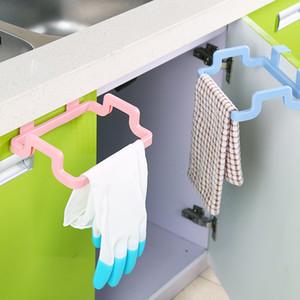 Portable Solid Hanging Kitchen Cabinet Cupboard Door Back Stand Trash Rack Style Storage Bucket Garbage Bags Hanging Holder