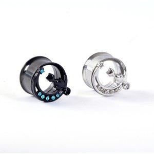 Wholesale Cat Style Ear Piercing Plugs and Tunnels Ear Expander Anti-Allergy Body Piercing Studs For Woman