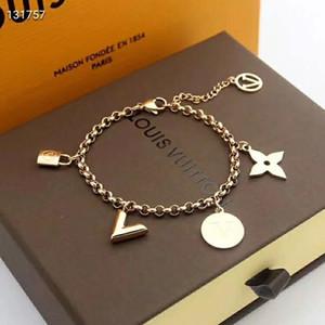 pulsera, la carta desinger con la caja 2019 pulsera de lujo bloqueo carta de amor nueva moda de alta calidad del envío GD19071125