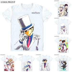 쿠로 바 카이토 키드 팬텀 도둑 티셔츠 Meitantei Conan Case Closed Detective TShirt 프리미엄 티셔츠 프린트 반소매 셔츠