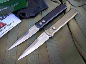 Promotion OEM Protech 920 Couteau auto tactique pliant 154CM Satin Lame CNC Finition 6061-T6 poignée EDC Couteaux de poche