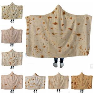Одеяло с капюшоном Мексиканский Торт Флисовые Одеяла Носимых Бросить Одеяло Кондиционер Одеяла Детский Халат Оптовая 8 Конструкций LYW2990