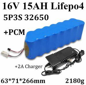 Elektrikli bisiklet için bakım gerektirmeyen 15Ah 16V LiFePO4 pil değiştirme 16V elektrolitik batarya 15Ah 32650 5C pil + PCM