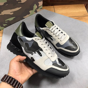 High quality New fashion gentleman designer advanced manual leisure sneaker camouflage Casual movement shoes Free shipping size38~45