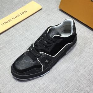 20FW der neuen Ankunfts-Sommer-Art- und Männer Flats Schuh Alle Schwarz Weiß Rot Freizeitschuhe Herren Schuhe Lace-Up hohe Schuhe 20FW YECQ3