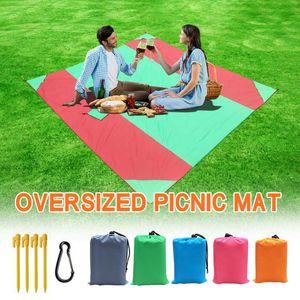 118x110 inç Açık Piknik Battaniye Kilim Sandless Alez Yaz Plaj mat Battaniye OutdoPicnic Mat