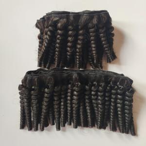 Afro-brasilianische Jungfrau-Haar-sexy-Haar-Verlängerung 8-12inch Tief Curly guter Preis Inder Remy Menschenhaar Doppeleinschlag Fabrik-Großverkauf