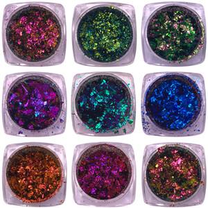 1 Caixa de 0.2g Camaleão Irregular Lantejoulas Glitter Colorido Flakies Pó Paillette Manicure Nail Art Decoração