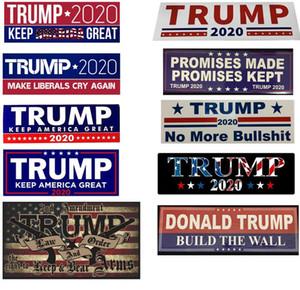 10 nouveaux styles Donald Trump 2020 Autocollants de voiture Pare-chocs Autocollant Mural Marque Gardez l'Amérique Grande Decal pour la voiture Styling Véhicule Paster DHL gros