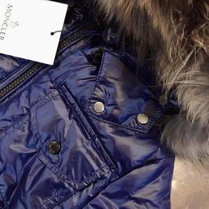 Boy crianças Casacos Casacos 2019 Inverno Quente menina com capuz crianças marca Brasão crianças roupas de algodão acolchoado jaqueta miúdo coletes salva-2-A