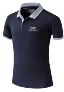 Yeni Audi logosu yokuş aşağı çabuk kuruyan kısa kollu polo gömlek tişört açık hava spor tişört kıyafet bisiklet çabuk kuruyan nefes