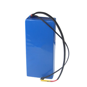 Free shipping High quality rechargeable 48V 20AH lithium ion battery pack 18650 li-ion batteries for 100W-1200W motor with Charger