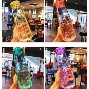 Bottiglia di vetro di moda di acqua 17 once bottiglia tazza di corsa libera Sport acquatico Seal perfetta tenuta Drink Cup escursione di campeggio di cristallo Tumbler regalo VT1732