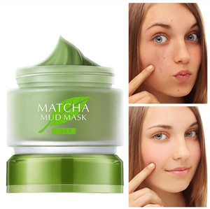 Laikou Matcha fango maschera facciale crema profonda pulizia dell'olio-controllo dell'olio idratante nonehead rimozione dell'Acne Trattamento poro detergente fango