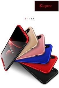 GKK 3 in 1 Custodia protettiva opaca per PC Full Body a 360 gradi per iPhone XS MAX XS XR X 7/8 7/8 plus 6 / 6s plus 5 5SE Shell Cover