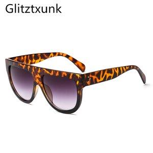 Glitztxunk Mulheres óculos de marca 2018 Vintage Sun óculos de armação Big Total dos Óculos Mulheres Óculos oculos feminino