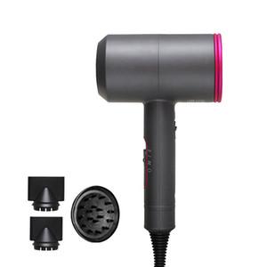 Secador de pelo iónico profesional con difusor de temperatura constante que no le duele el secador de pelo del martillo 110-240V negativo Secardedores de cabello iónico cuidado