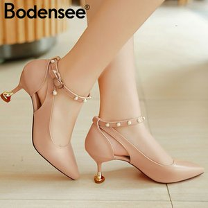 Bodensee Pumps 3-5CM Mid Heel Classic Sexy Pointed Toe Kitten Heels Shoes Spring Loafers Sandals Shoes Wedding Pumps Y200702