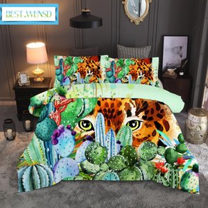 BEST.WENSD 11 Winter Super soft comfortable beddings Western Single double bed 3D Autumn leaves cat Quilt sets ropa de cama